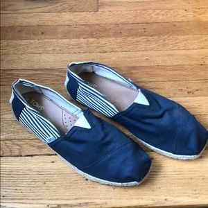 TOMS nautical espadrille blue & white